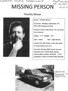 Timothy Misner Missing Flyer