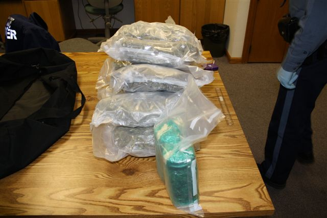 10 lbs of marijuana seized Photo Oregon State Police