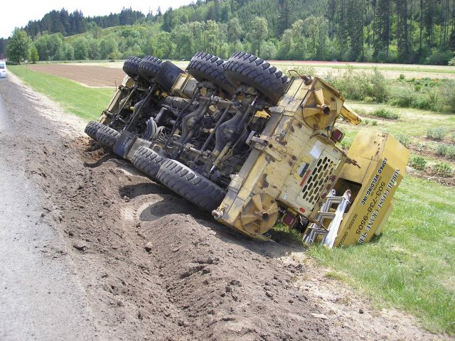 Highway 26 Crane Rollover