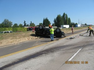 2011 Toyota 4-Runner after rollover