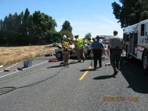  INJURY TRAFFIC CRASH - HIGHWAY 99W NORTH OF MONMOUTH August 2nd 2012