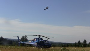 life flight and Air National guard copters