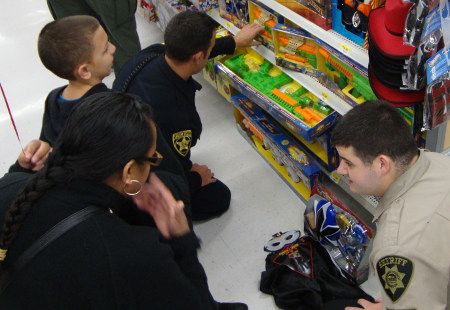 2012 Shop with a Cop program was held this morning at the South Salem Walmart
