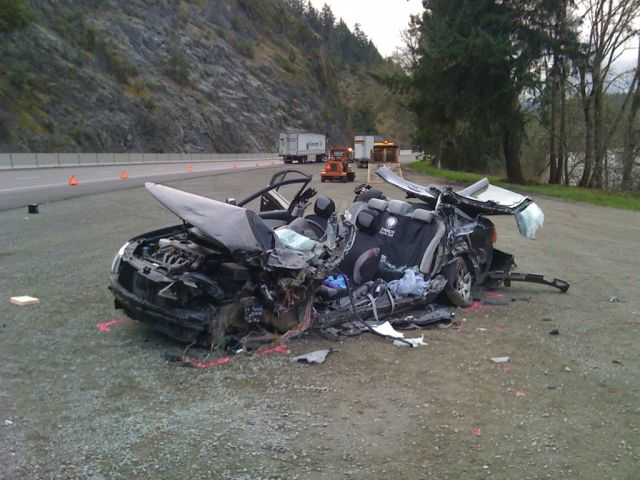 2010 Kia sedan after crash
