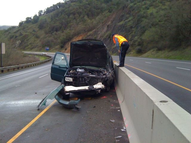 2000 GMC Yukon after crash