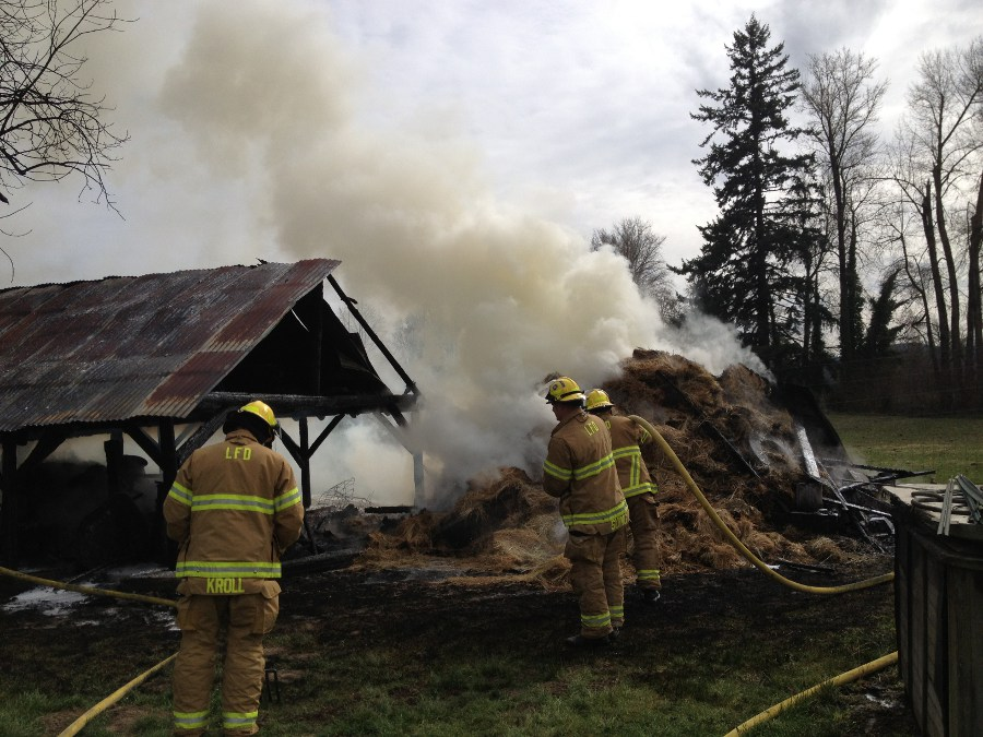 Lebanon Fire Extinguishes Barn & Hay Fire - 3