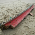 Top portion of what appears to be a torii found on Siuslaw River South Jetty near Florence, OR